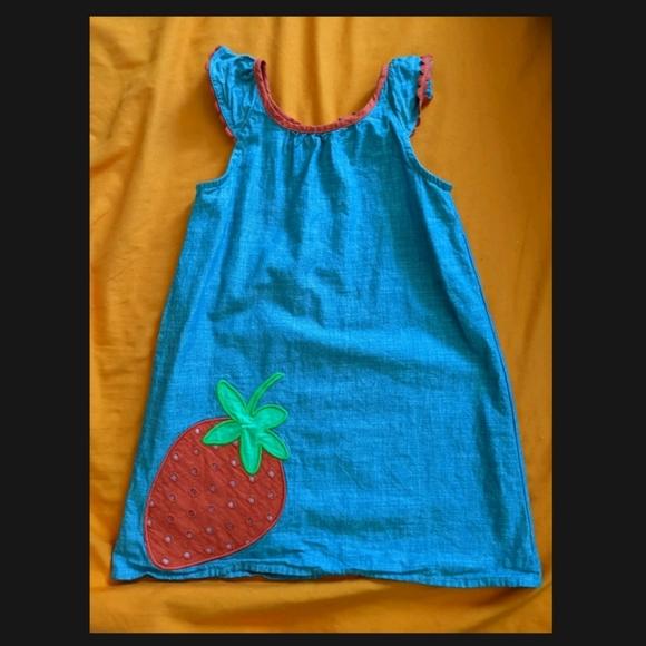 Gymboree Strawberry Chambray Shift Dress, 4T